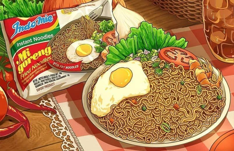 Pin oleh Anna di Food Illustration Makanan indonesia