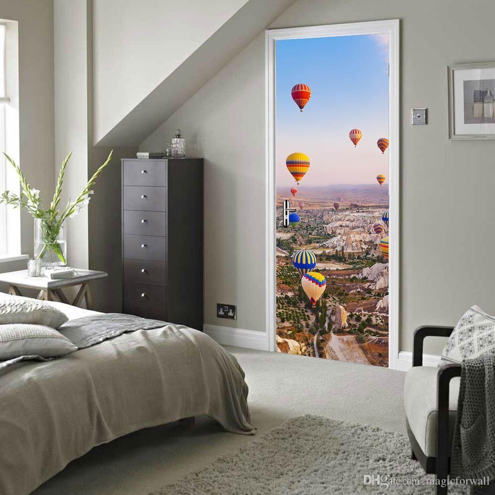 Rose Door Wall Sticker Decals Self Adhesive Mural Home Bedroom Decor Waterproof