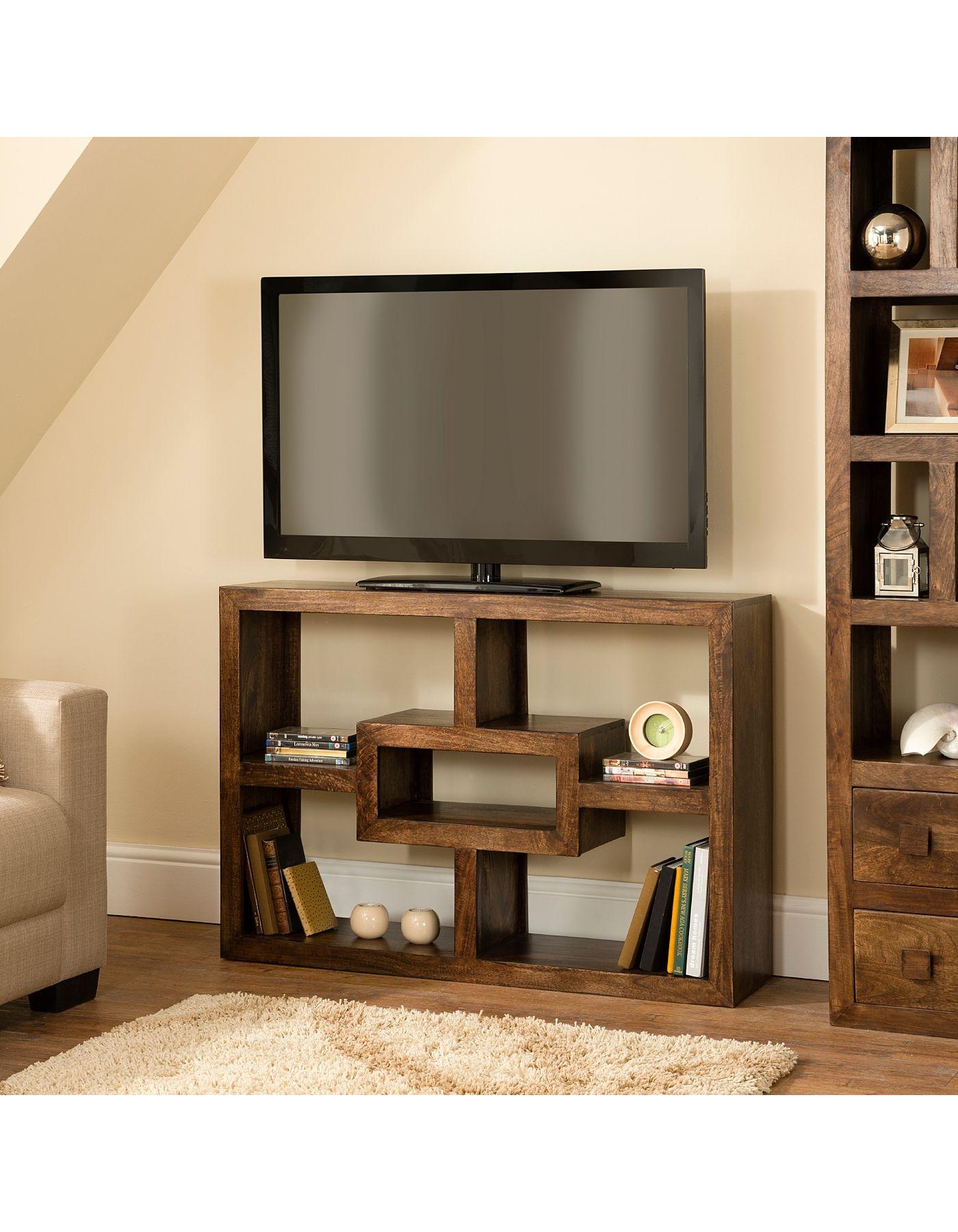 Kochi Tv Shelf Entertainment Unit Tv Units Asda Direct Draft  # Post Television En Bois