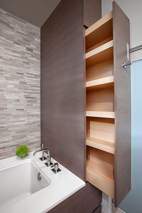 Soluciones para ganar almacenaje en el baño | Decorar tu casa es facilisimo.com
