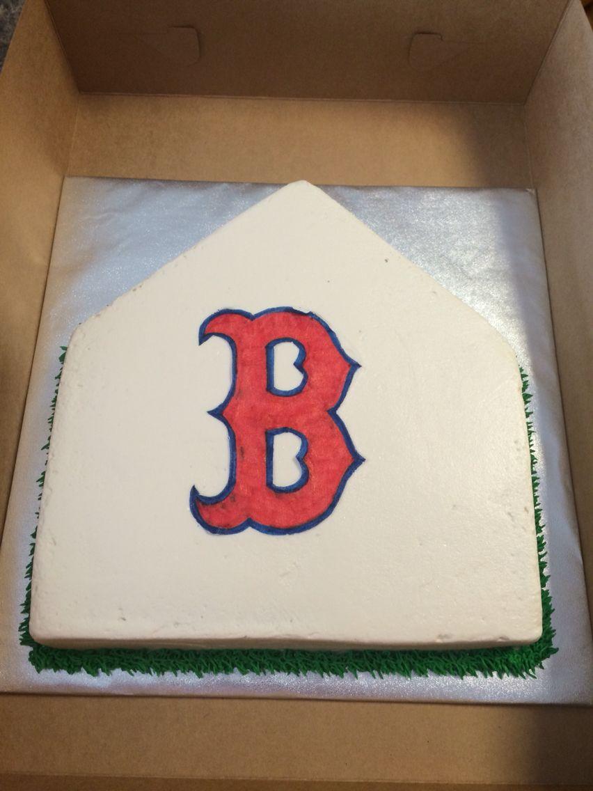 Boston Red Sox baseball cake | Candi\'s Cake Creations | Pinterest