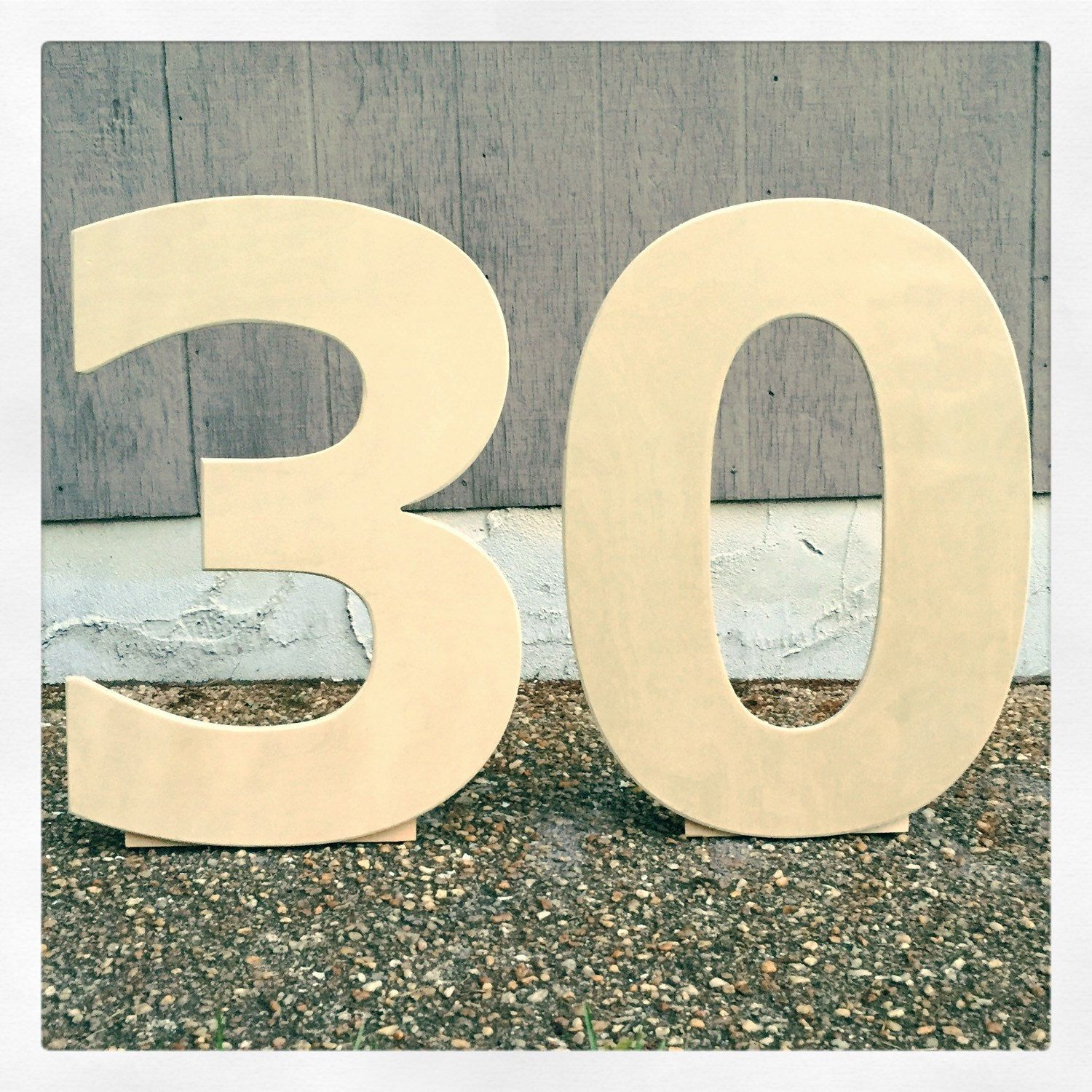24 inch wooden numbers