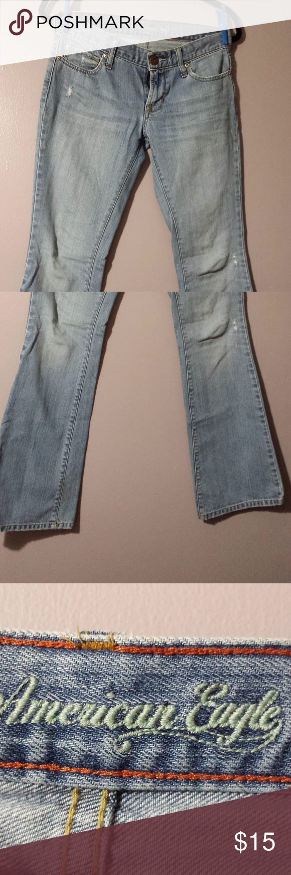 American eagle hipster skinny flare jeans