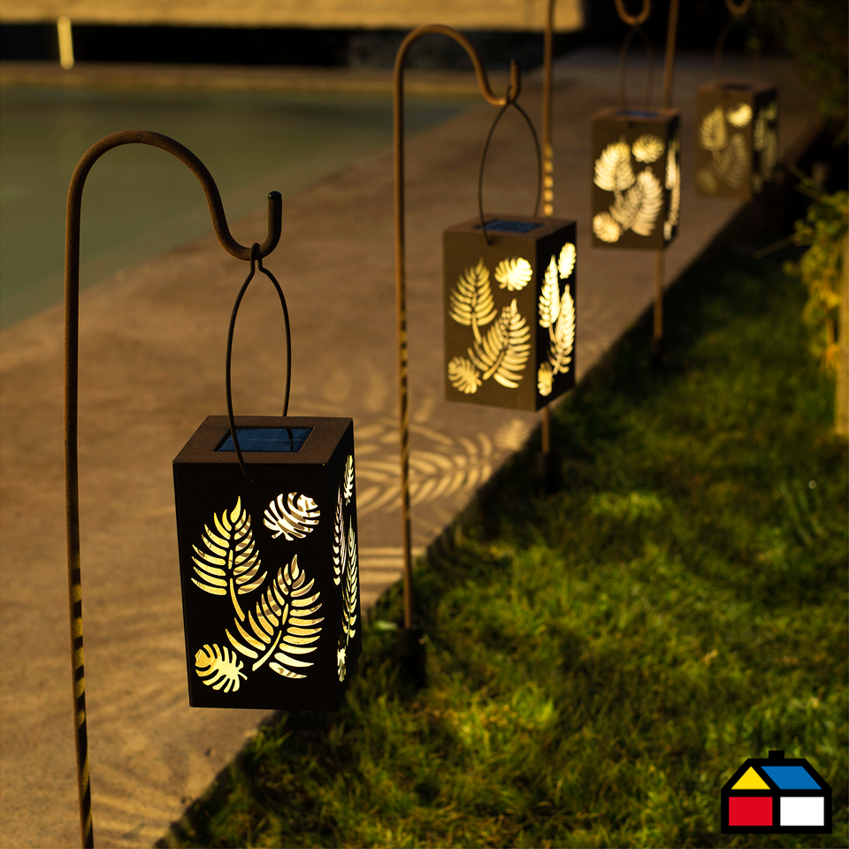 home collection farol solar decorativo prato 11 x 19 x 89
