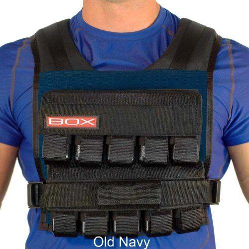 50 Lb. BOX Weightvest (Navy) Weighted vest, Best home