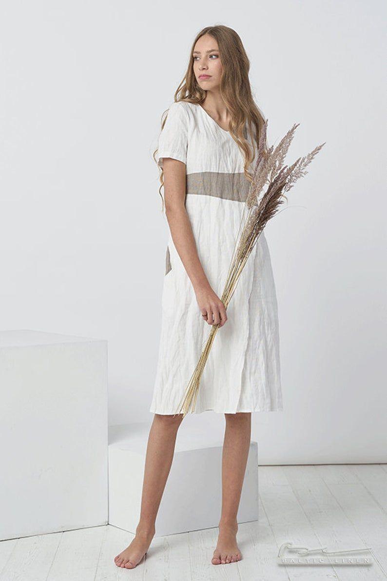 Pure Linen Dress Beach Wedding Dress Linen Skirt Not Etsy Linen Dress Linen Wedding Dress Dress Flax [ 1191 x 794 Pixel ]