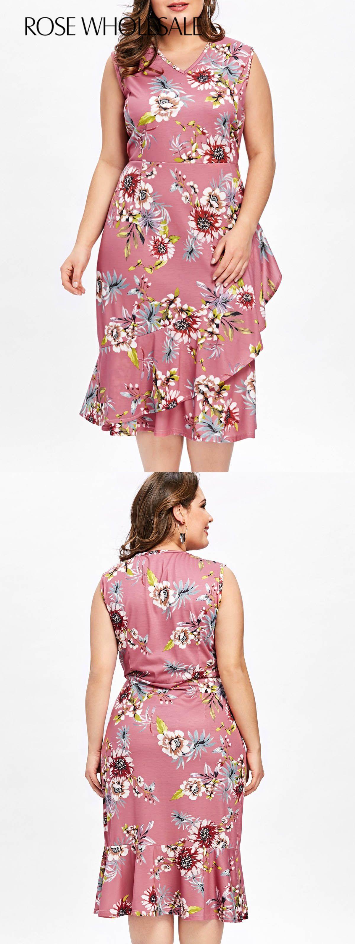 pink summer dress plus size