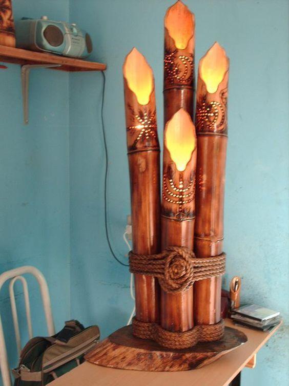 Artesanato Em Florianopolis Sc ~ Como Fazer Artesanato com Bambu Bambu, Luminárias e Como fazer artesanato