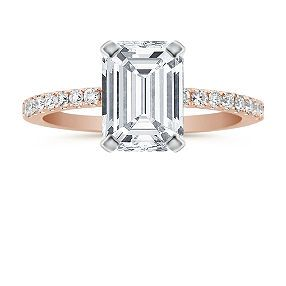 Pave Diamond Engagement Ring in Rose Gold. This is the winner.