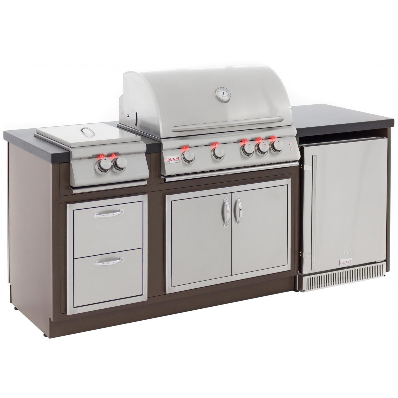 Blaze Lte Bbq Island With 32 Inch 4 Burner Propane Gas Grill Power Burner In 2020 Bbq Island Propane Gas Grill Outdoor Kitchen Grill