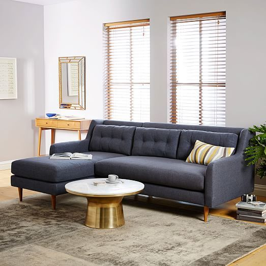 Crosby 2 Piece Chaise Sectional West Elm