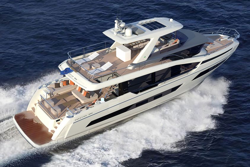 Prestige Builds X Tra Spacious X70 Motor Yacht Without Side Decks In 2020 With Images Yacht Yacht Design Motor Yacht