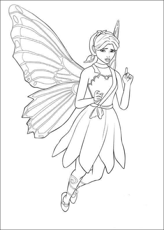 Barbie Mariposa Coloring Page 12 Wallpaper