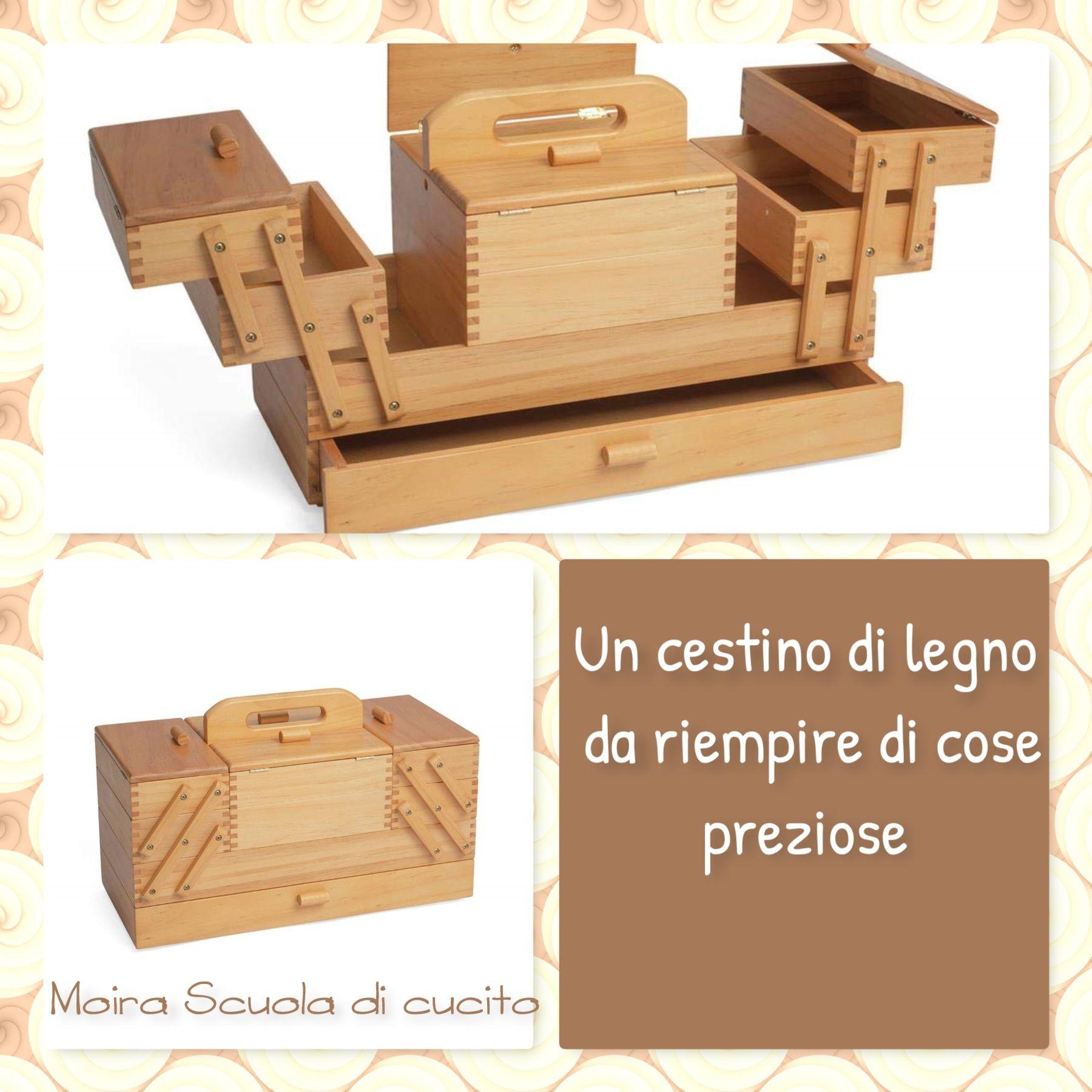 Cestini Da Lavoro Per Cucito cestino in legno a quattro piani per ordinare fili