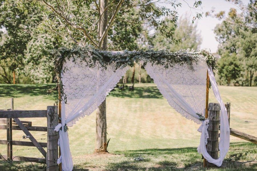 Rustic Garden Ceremony Setup