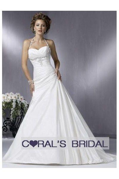 Halter Strap Wedding Dress