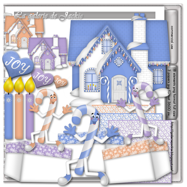 GJ-CU Beautiful Christmas House 2 FS : Scrap and Tubes Store, Digital Scrapbooking Supplies