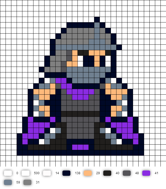 Shredder TMNT Perler Bead Pattern | Perler beads | Pinterest | Punto ...