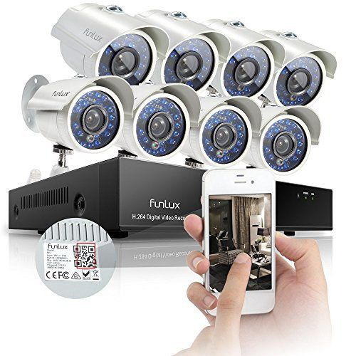 Funlux 8CH 960H Video DVR QR Code Quick View Security Camera System. #VideoSecurity