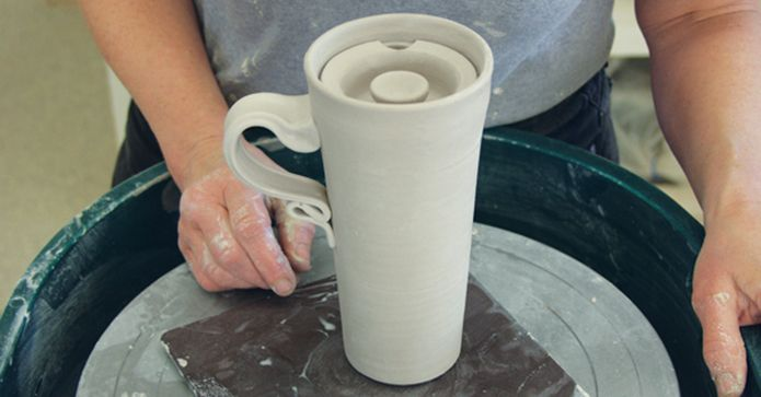 Tips On How To Make Your Own Ceramic Travel Mug Ceramic Arts Network Clay Mugs Ceramic Arts Daily Pottery Cups