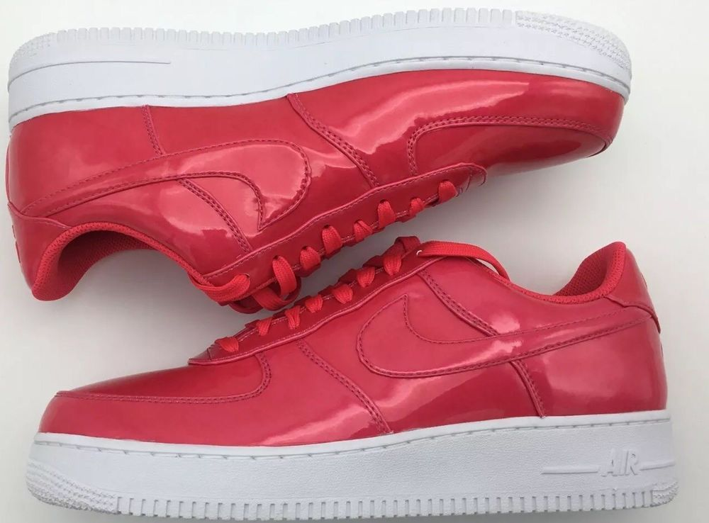best website ad112 e4994 Nike Air Force 1 07 LV8 UV Patent Leather Siren Red White AJ9505 600   fashion  clothing  shoes  accessories  mensshoes  athleticshoes (ebay link)