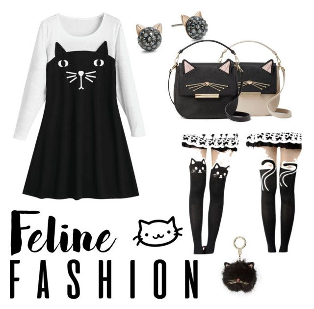 """""""Meow Meow"""" by waffletoaster ❤ liked on Polyvore featuring Gipsy, Karl Lagerfeld and Kate Spade"""