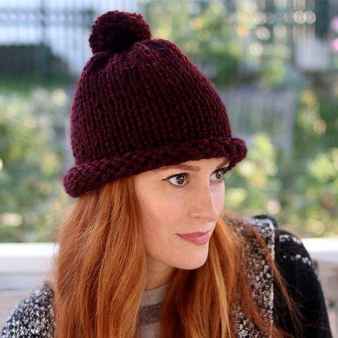 1 Hour Hat Free Knitting Pattern Women And Men Sizes