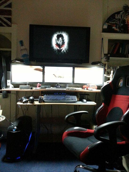 Basic But Good Gaming Set Up Komnaty Videoigr Vdohnovenie Kompyuter