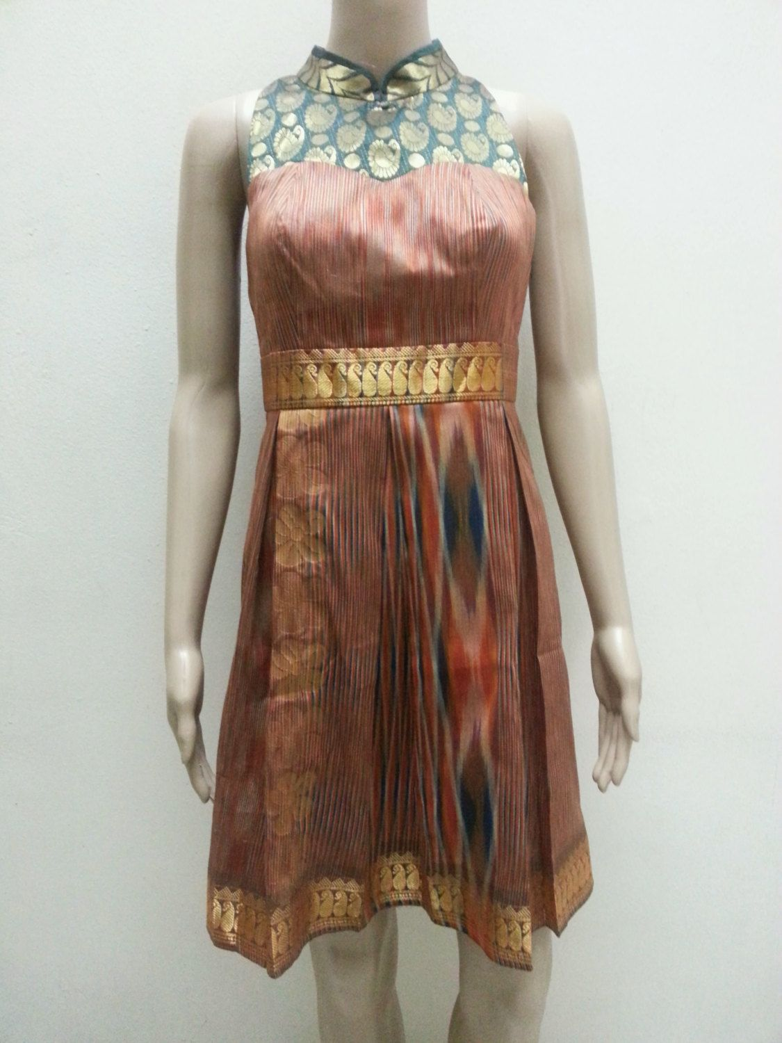 Modern Dress Made From Sari Fabrics by Gorjesboutique on ... - photo#43