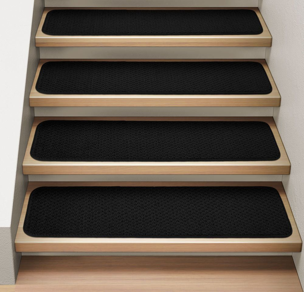 Best Set Of 12 Attachable Carpet Stair Treads 9 X36 Black 400 x 300