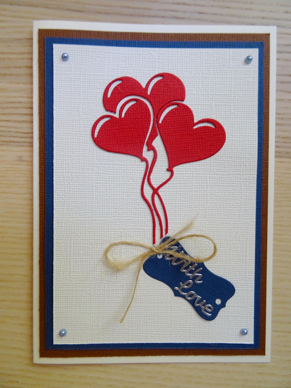 With Love Greeting Card Birthdayanniversaryvalentines Day Card