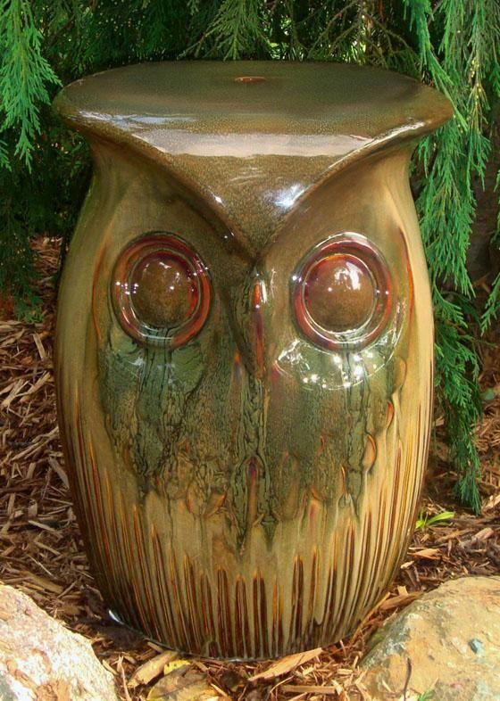 Ordinaire Ceramic Owl Garden Stool