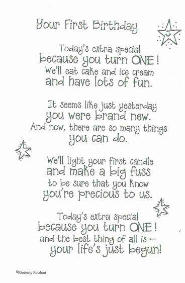 1st Birthday Happy Birthday Pinterest Birthday Birthday Poems