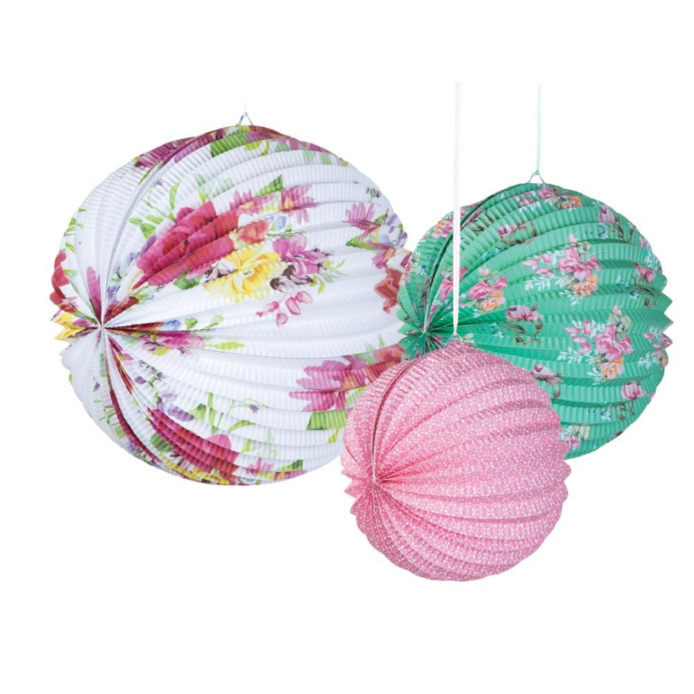 Exceptional Pack Of 3 Blossom U0026 Brogues Accordian Lanterns. These Stunning Floral Accordion  Lanterns Will Brighten Great Ideas