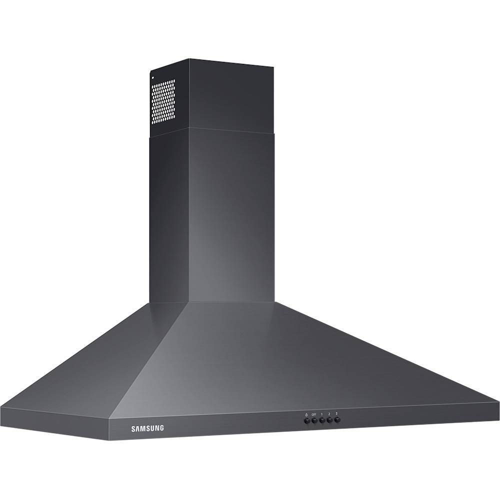 Samsung 36 Convertible Range Hood Black Stainless Steel Nk36r5000wg Best Buy Samsung Black Stainless Black Stainless Steel Stainless Steel Range Hood