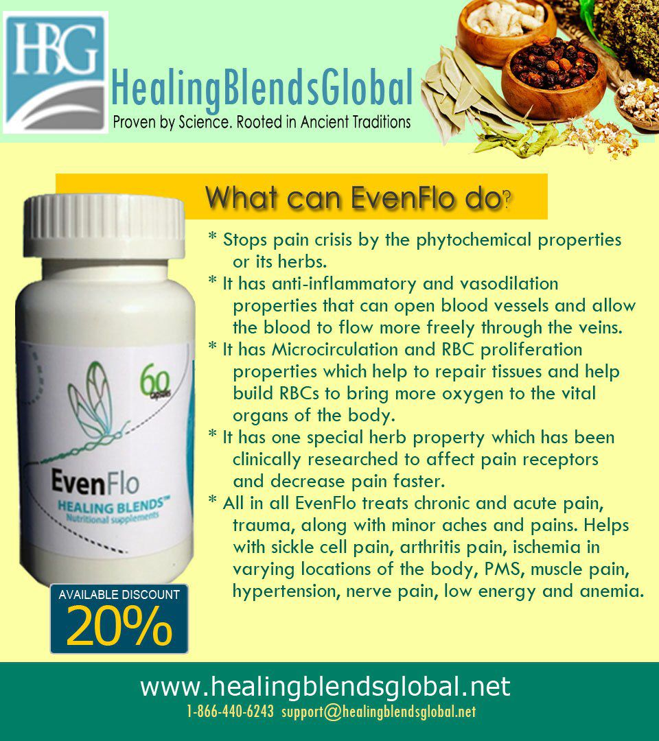 EvenFlo - a natural alternative for sickle cell disease! | Sickle