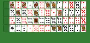Карточная игра пасьянс коврик