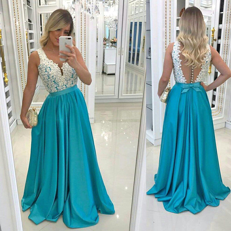 Alexzendra Long Prom Dresses For Women Plus Size Illusion Back ...