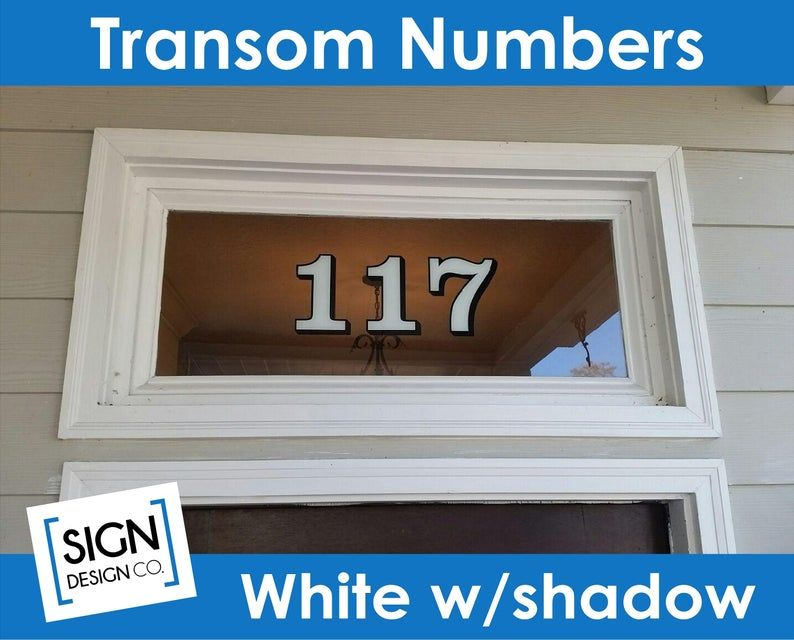 Home Address Transom Numbers House Building Numbers Glass Number Decals Vintage Victorian City Old Town Historic Number Decal Transfer House Numbers Building A House Vinyl Decal Stickers