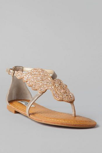 34ce44948e1 Give Me Wings Beaded Sandal in Champagne