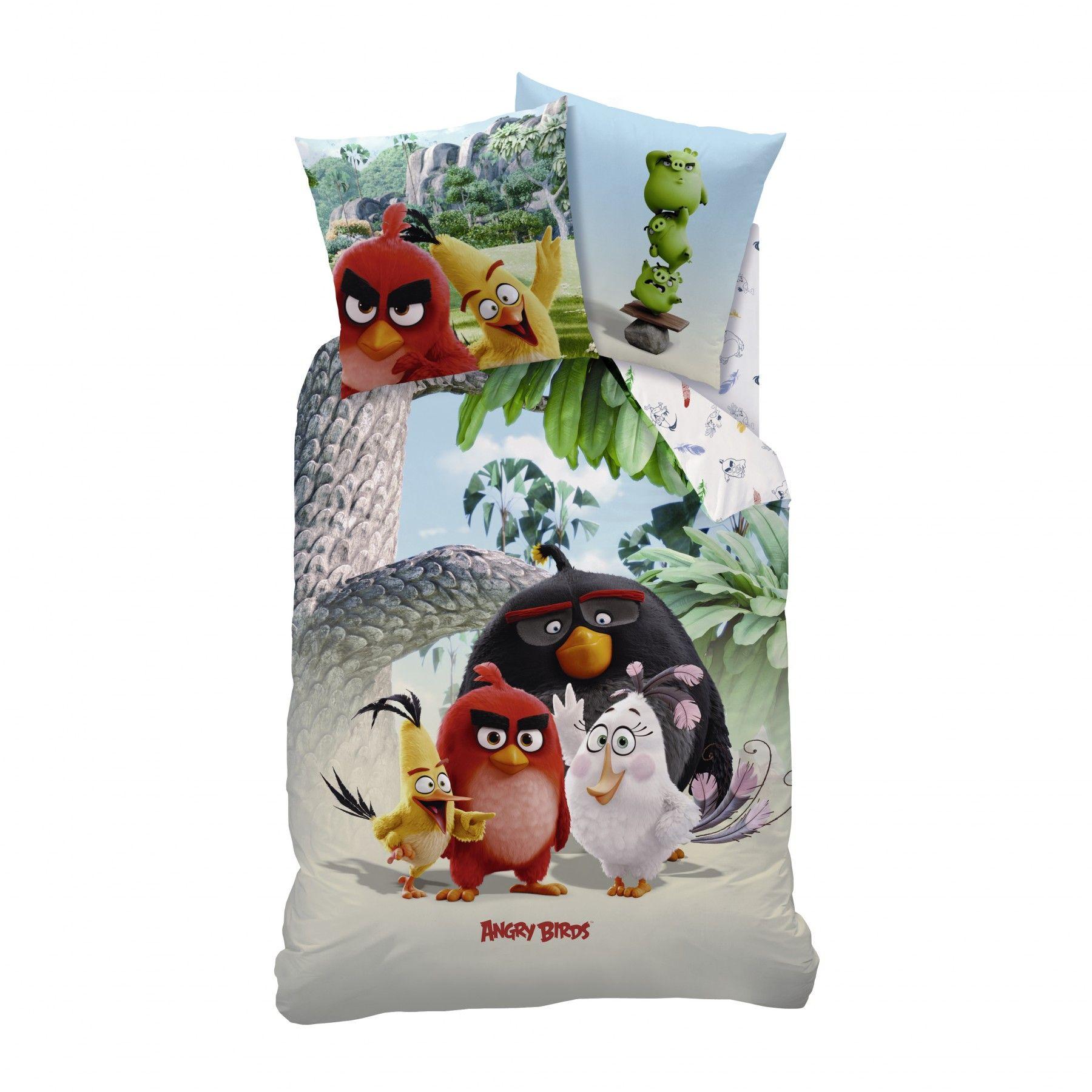ANGRY BIRDS Bettwäsche bunt
