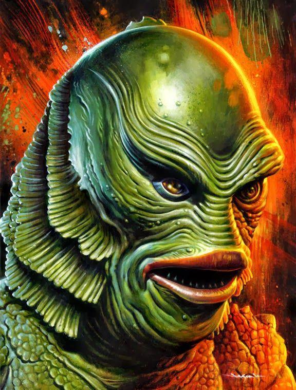 The Geeky Nerfherder: Cool Art: 'Universal Monsters' by Jason Edmiston