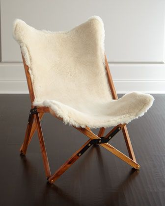 Dollie Sheepskin Chair by Texas Rover Company at Neiman Marcus.