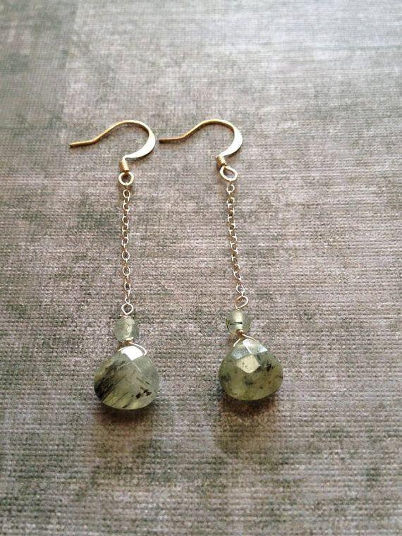 Agate Drop Earrings by staceybuckwalter on Etsy, $15.00