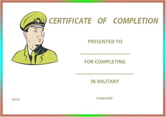Military Certificate Templates certificate template - 62+ free
