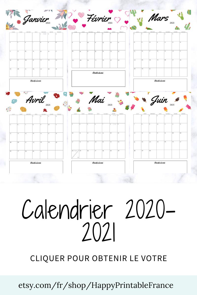 Calendrier mural 2021 2022  Agenda 2021 2022   PDF Portrait Motif