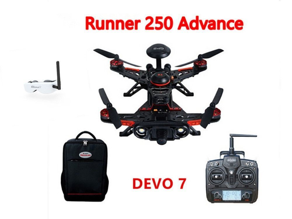 Walkera Runner 250 Advance GPS System Racer RC Drone Quad Copter RTF With DEVO 7