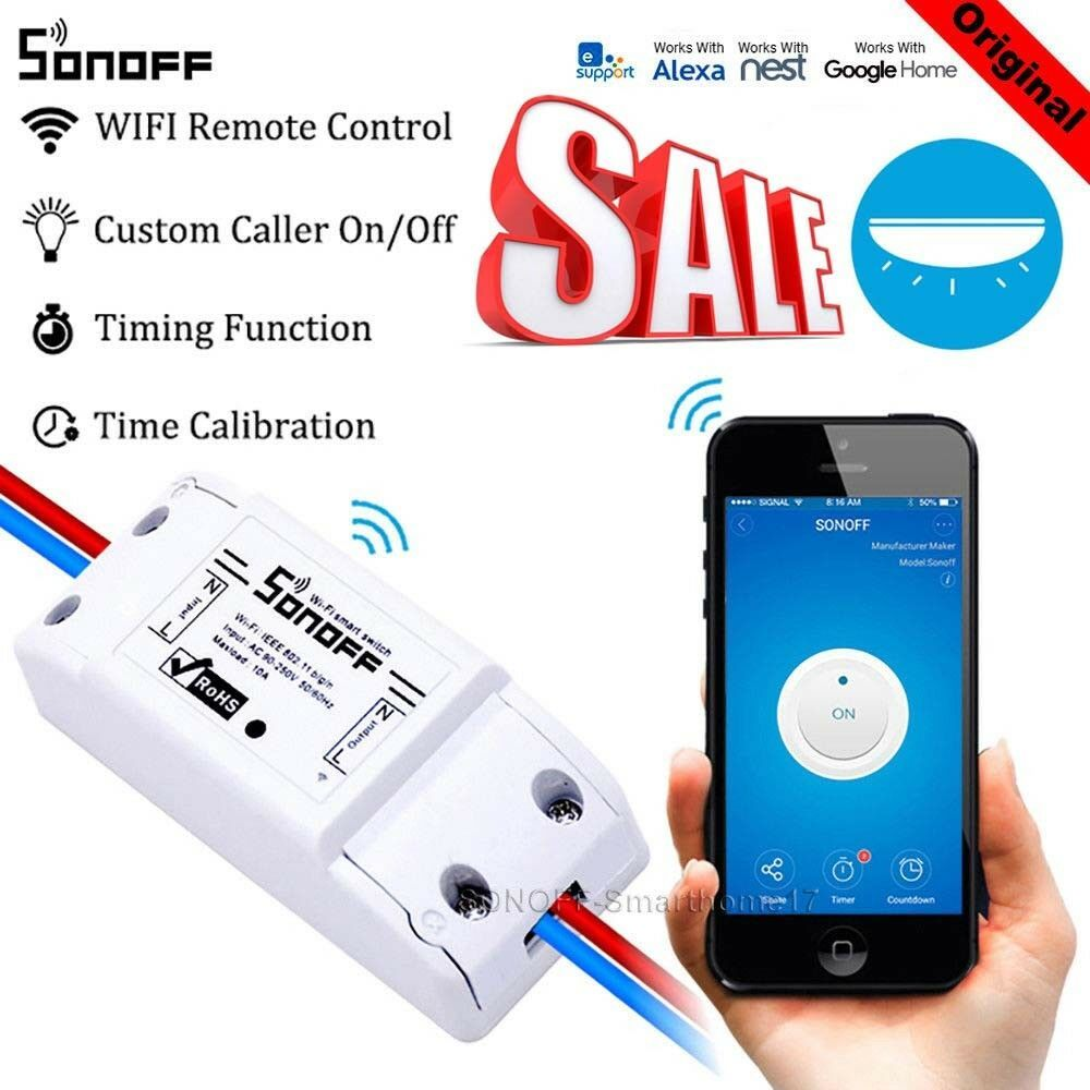 Sonoff ITEAD Smart Home WLAN Wireless Switch Modul für Apple Android APP Control