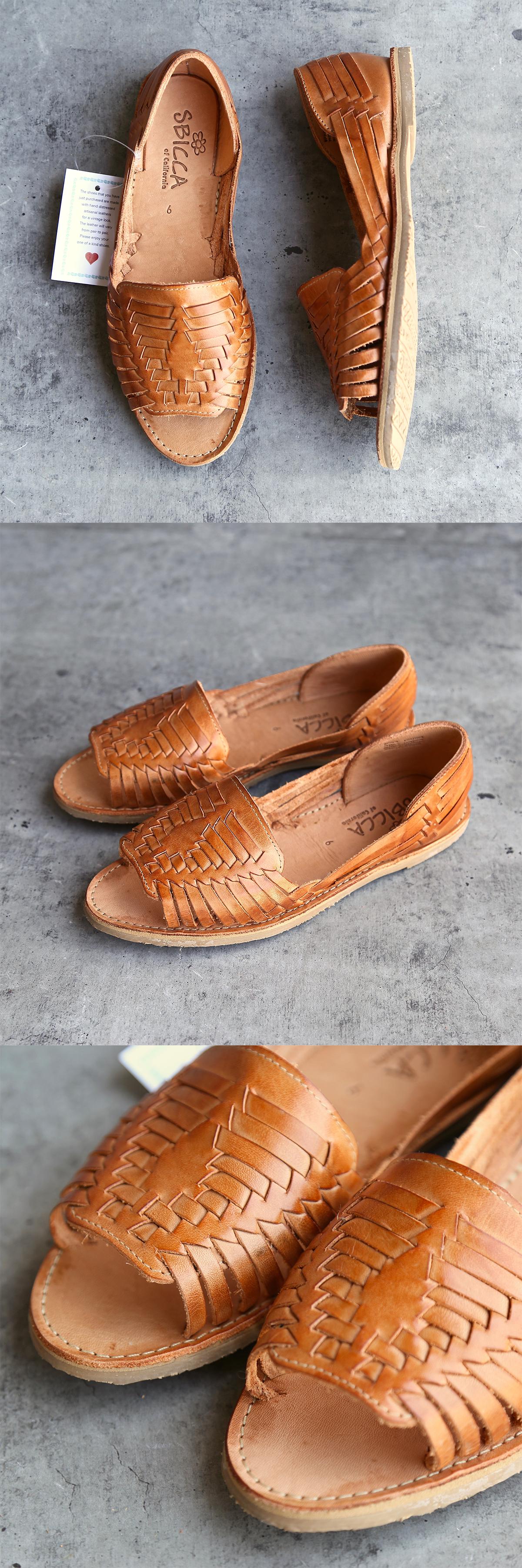 huarache sandals open toe