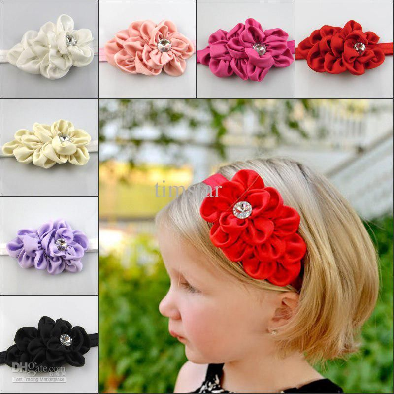 Pink hair bow tie bow girls hair bow photo shoot prop floral bow flower headband baby bow